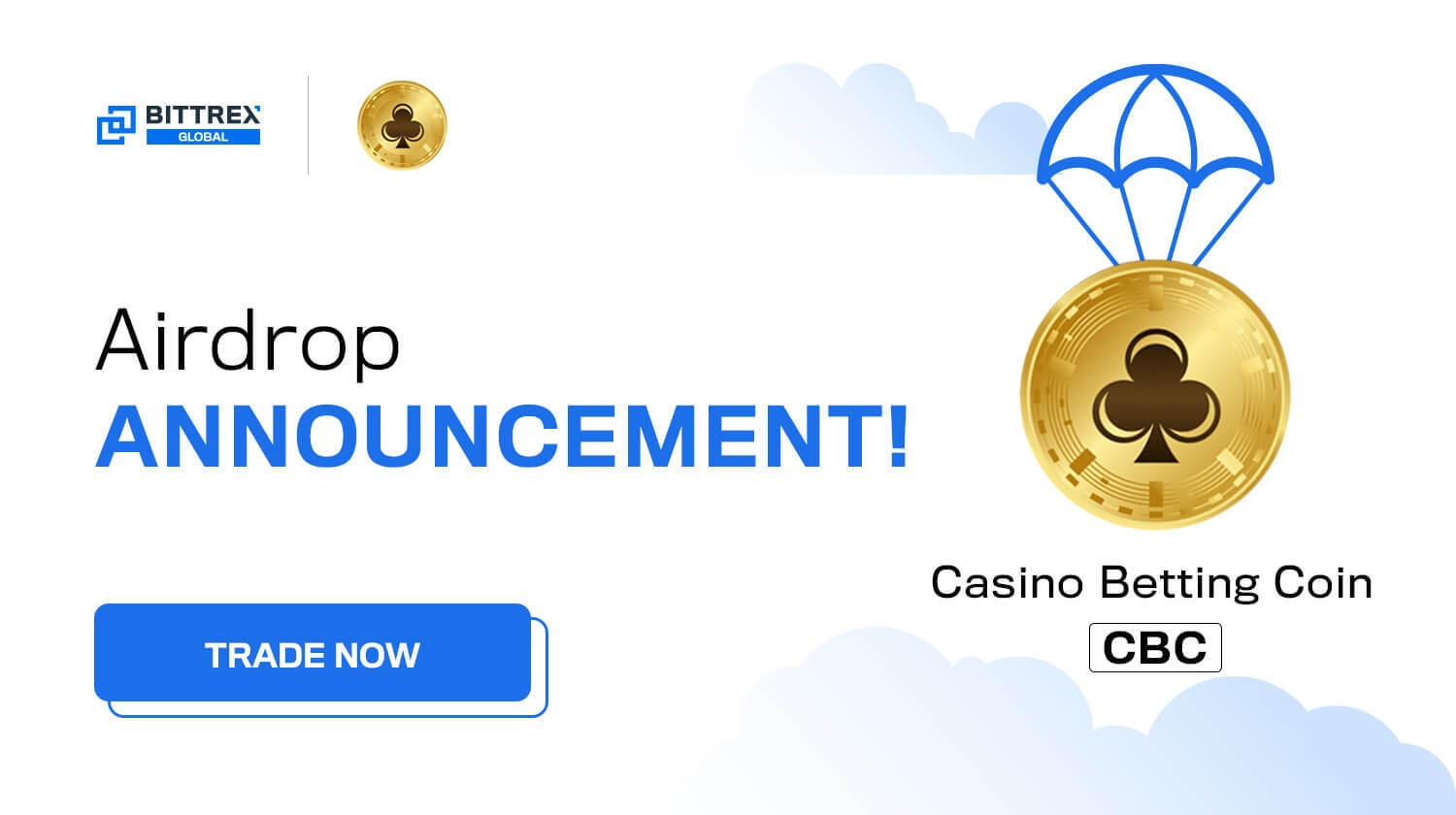 Airdrop: You could win a share of 85,000 CBC from Casino Betting Coin!
